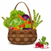 Vegetables in basket