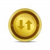 Data Circular Vector Gold Web Icon Button