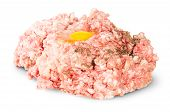 Raw Ground Beef With Egg And Black Pepper