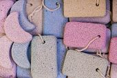 stock photo of pumice stone  - Pumice stone suvenirs from Kos island Greece - JPG