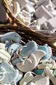 stock photo of pumice-stone  - Pumice stone suvenirs from Kos island Greece - JPG