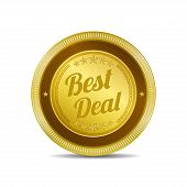 Best Deal Glossy Shiny Circular Vector Button