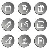 Shopping web icon set 1 , grey stickers set