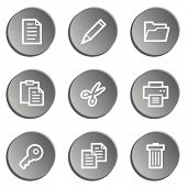 Document web icon set 1 , grey stickers set