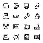 Computers web icons set