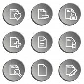 Document web icon set 2 , grey stickers set