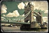 Vintage photo of Tower bridge in London