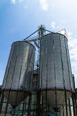 Two Metal Silo Agricultural Granary