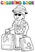 Coloring book travel thematics 1 - eps10 vector illustration.