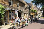Pavement cafe, Bourton on the Water.