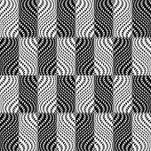 Design Seamless Monochrome Illusion Checked Trellised Pattern