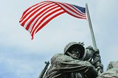 WASHINGTON, DC - JUNE 25, 2014: Iwo Jima Memorial in Washington, DC. The Memorial honors the Marines