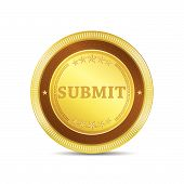 Submit Glossy Shiny Circular Vector Button