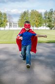 Superhero Running Forward