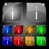 Screwdriver tool sign icon. Fix it symbol. Repair sign. Set of colored buttons Vector