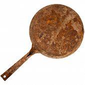 Vintage Rusty Cast Iron Skillet