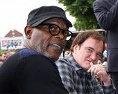 LOS ANGELES - DEC 1:  Quentin Tarantino, Samuel L. Jackson at the Christoph Waltz Hollywood Walk of Fame Star Ceremony at the Hollywood Boulevard on December 1, 2014 in Los Angeles, CA
