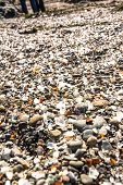 Glass pieces in the Glass Beach, Fort Bragg