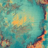 Grunge texture. With different color patterns: blue; orange; yellow; brown