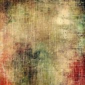 Old grunge background with delicate abstract texture and different color patterns: gray; green; orange; brown; yellow