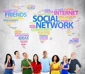 Social Network Internet Friends Ideas Talking Social Media Community Concept