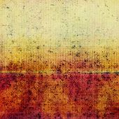 Vintage antique textured background. With different color patterns: orange; yellow; brown