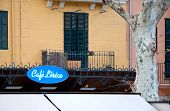 Cafe Lirico blue neon sign