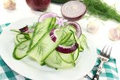 Cucumber Salad With Garlic Flower