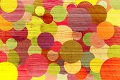 Abstract Grunge Background With Colour Circles.