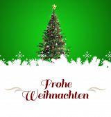 image of weihnachten  - border against christmas tree - JPG