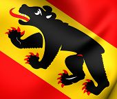 Flag Of Bern Canton, Switzerland.