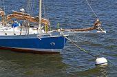 Boat Anchored in Harbor
