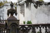 New Orleans - Wrought Iron Cemetery Post