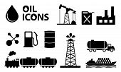 picture of petrol  - oil icons in black color - JPG
