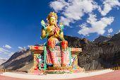 The Buddha Statue In Nubra Valley