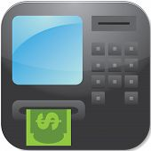 Editable Vector ATM Cash Machine