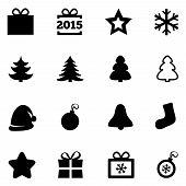 Christmas icons. New Year 2015 symbols.