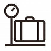 Luggage On Weigh Scales Icon
