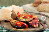 Eggplant Aubergine And Red Pepper Bake