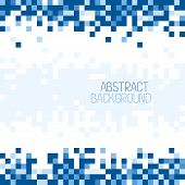 picture of pixel  - Abstract Pixel Mosaic Blue Pattern Background - JPG