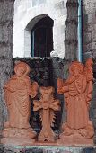 image of armenia  - religious monument on area of Noravank monastery - JPG