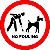 No Dog Fouling Symbol