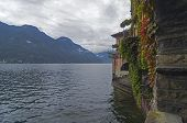 Views Of Lake Como From The Arches Of The Old House. Italy.