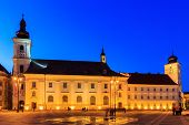stock photo of sibiu  - Main square in old town Sibiu - JPG