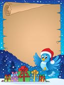 Christmas topic parchment 7 - eps10 vector illustration.