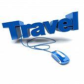 Online Travel In Blue