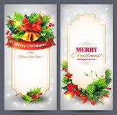 Christmas banners set. Vector eps 10.