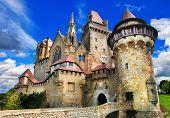 beautiful medieval castle Kreuzenstein, Austria