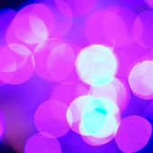 Shallow bokeh of festive christmas lights