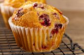Muffins with cranberry